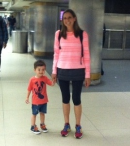 Me & Ben in Penn Station, going to Central Park!